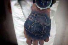 Creative tattoo idea on the hand