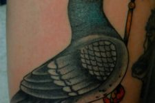 Dove and crown tattoo
