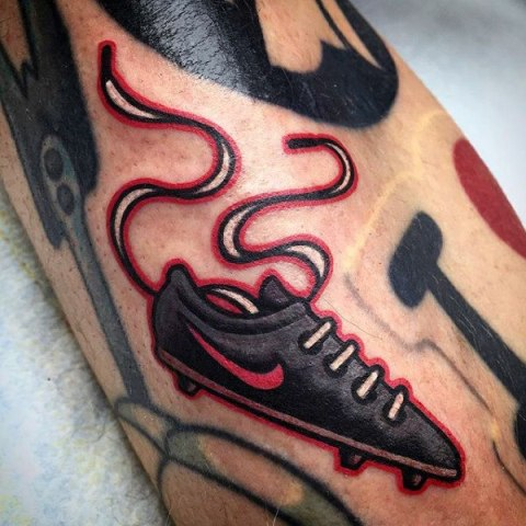 Football shoe tattoo