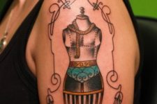 Half-sleeve sewing tattoo