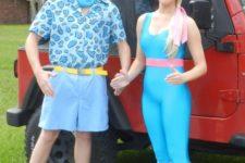 retro couple's halloween costume