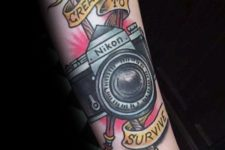 Meaningful tattoo on the arm