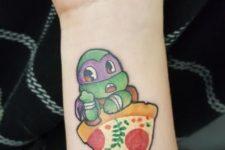 Ninja turtle tattoo on the forearm