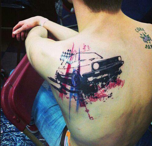 Original car tattoo idea
