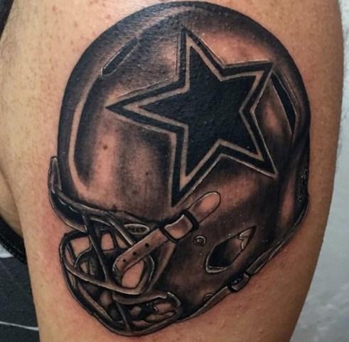 Perfect football tattoo design