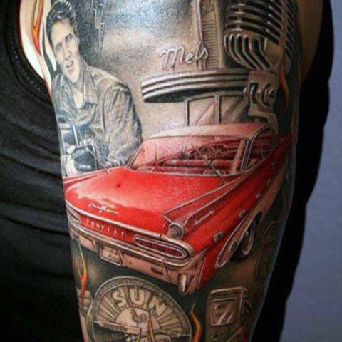 Red car tattoo