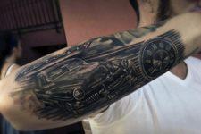 Retro car tattoo design