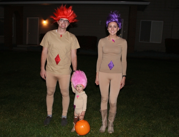 Troll costumes for whole family