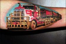 Truck tattoo idea on the arm
