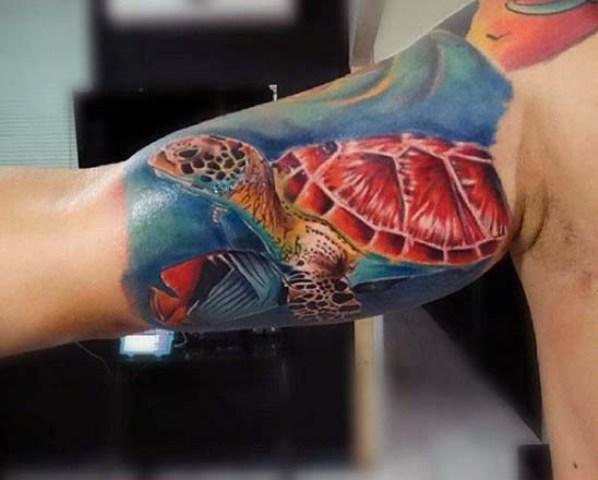 20 Interesting Turtle Tattoo Ideas For Guys
