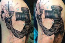 Unique tattoo idea on the arm