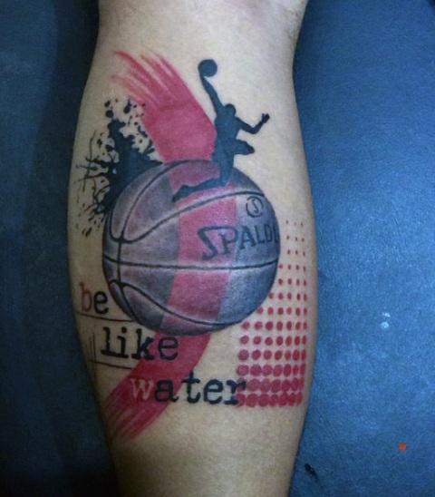 Unique tattoo idea on the leg
