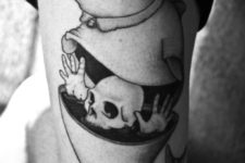Unique tattoo on the arm