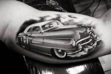 Vintage car tattoo on the arm