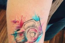 Watercolor tattoo on the hand