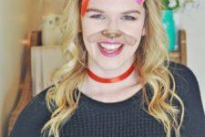 DIY Snapchat puppy filter makeup