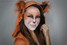 DIY fox Halloween makeup