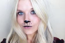 DIY cute bear makeup