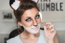 DIY fox makeup