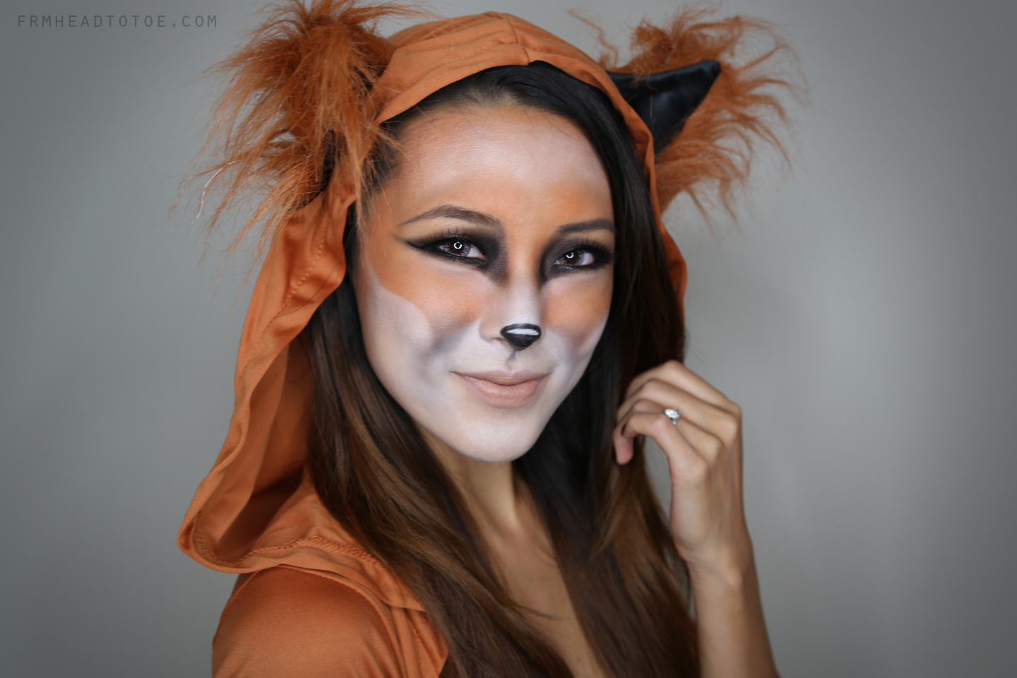 DIY fox Halloween makeup