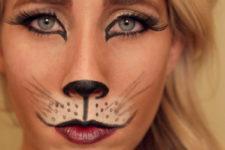 DIY kitty cat makeup