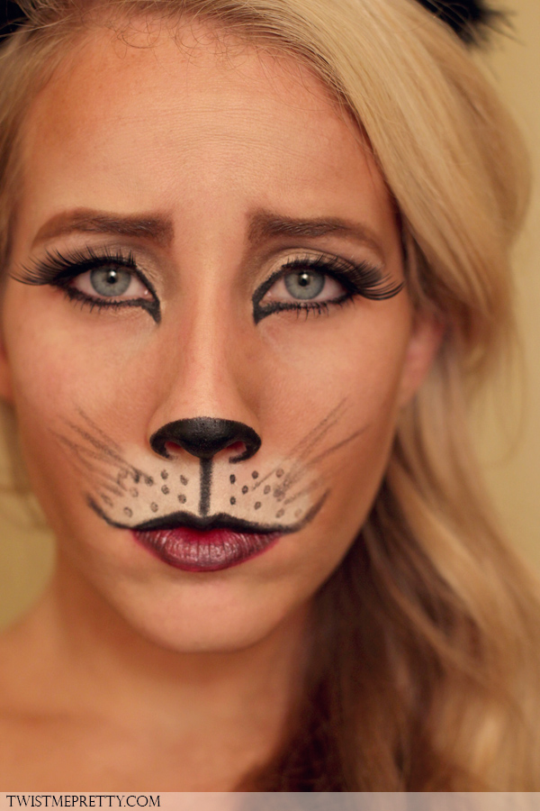 DIY kitty cat makeup