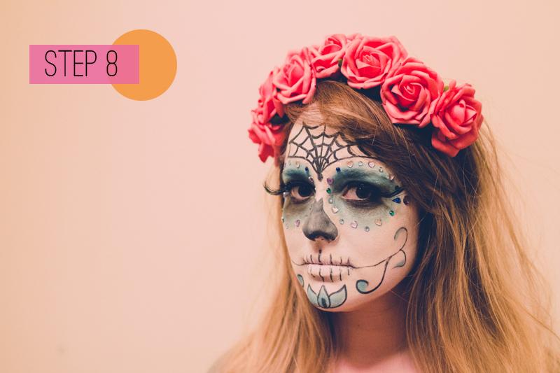 DIY sugar skull makeup