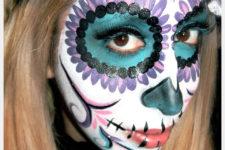 DIY bold sugar skull makeup