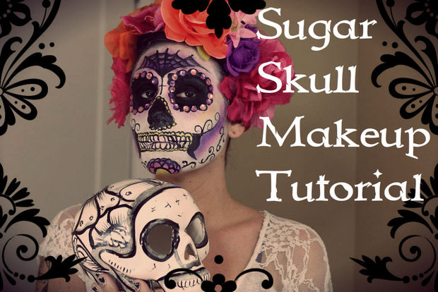 DIY sugar skull makeup
