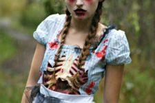 DIY step by step Halloween zombie makeup