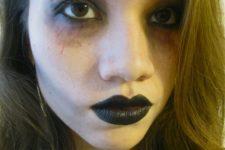 DIY last minute zombie makeup