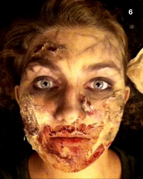 DIY very scary zombie makeup (via www.instructables.com)