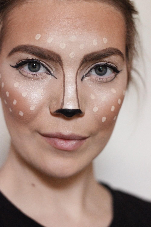 easy DIY Halloween deer makeup