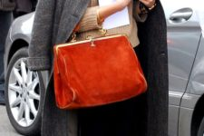03 a gorgeous burnt orange velvet purse in vintage style to add a pop of color