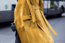 14 a suede mustard coat will add your look a colorful fall touch