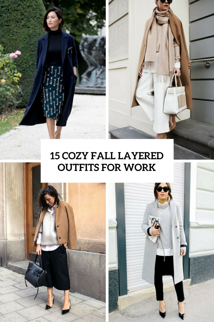 cozy fall layered outfits for work cover