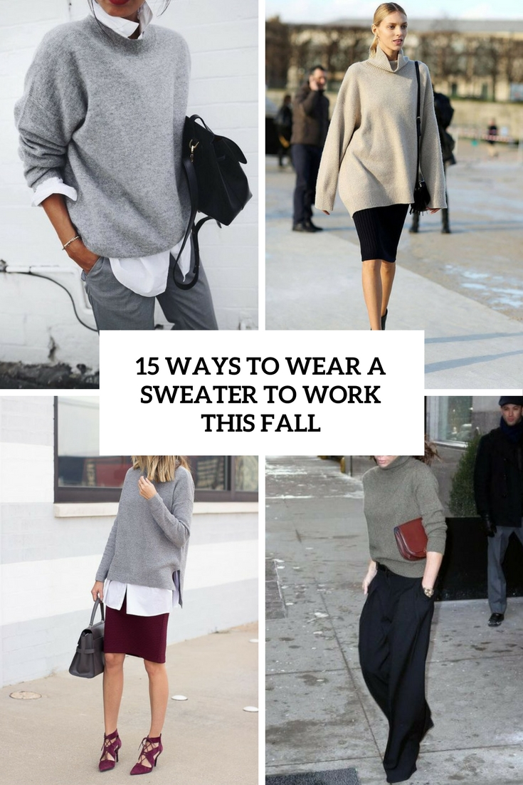 ways to wear a sweater to work this fall cover