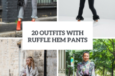 20 Awesome Outfits With Ruffle Hem Pants
