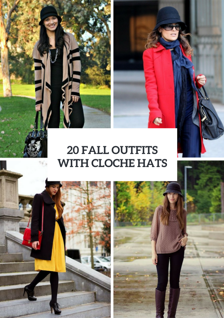 20 Fall Outfits With Cloche Hats