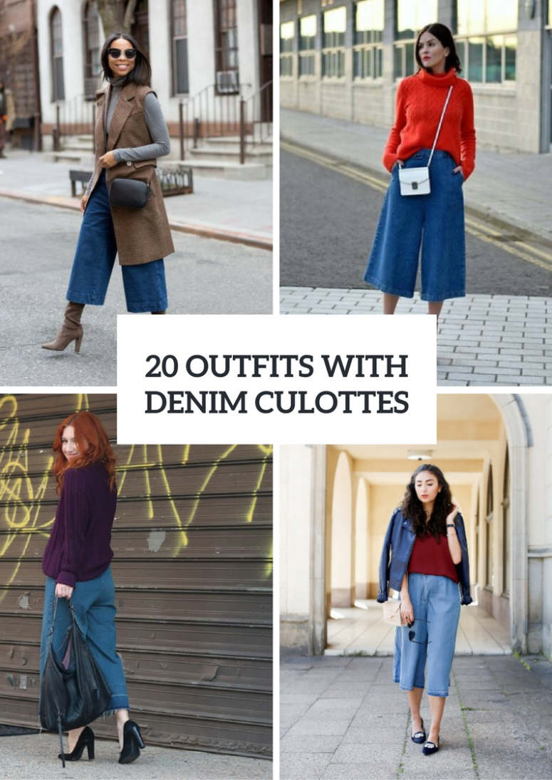 20 Fall Outfits With Denim Culottes To Repeat