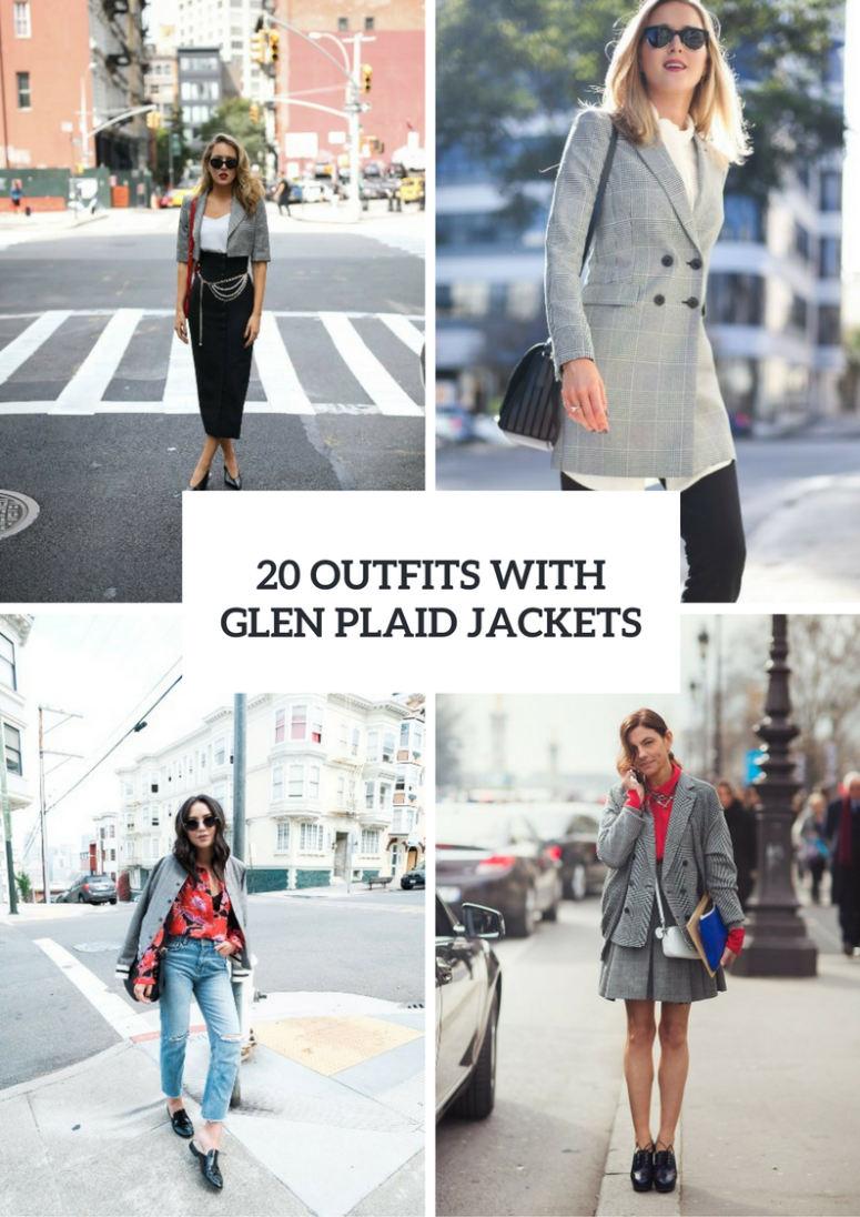 20 Glen Plaid Jacket Outfits For Women