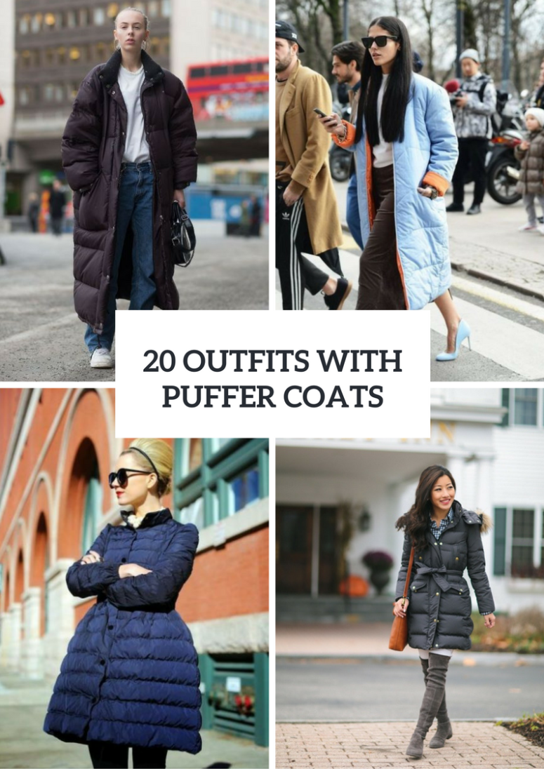 20 Puffer Coat Outfits For Fall And Winter