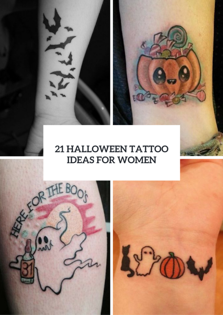 21 Eye-Catching Halloween Tattoo Ideas For Ladies