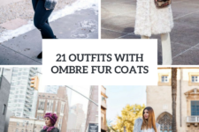 21 Fabulous Outfits With Ombre Faux Fur Coats
