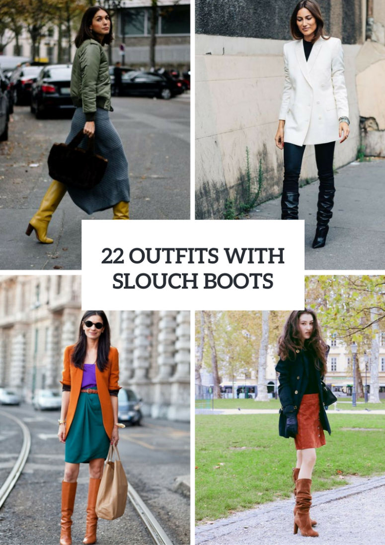 22 Fall Looks With Slouch Boots