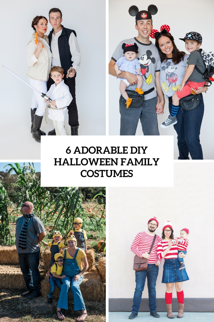 6 Adorable DIY Halloween Family Costumes