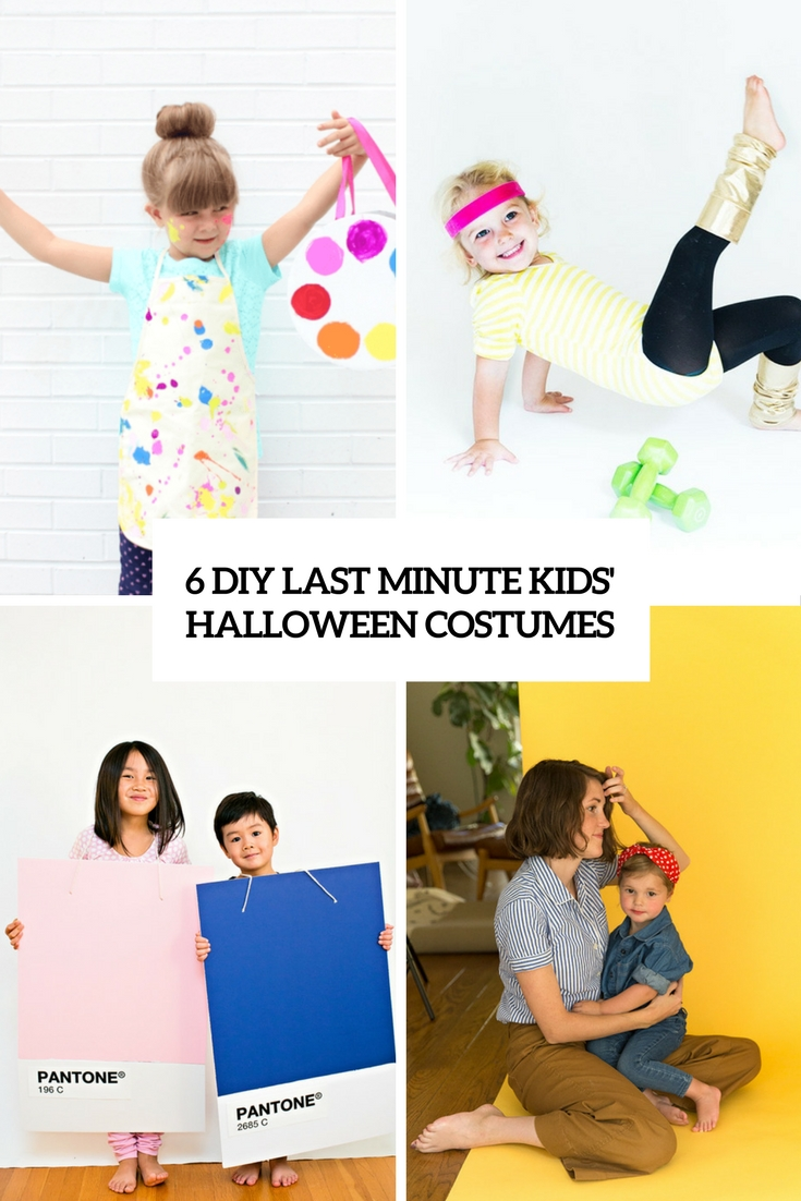 6 diy last minute kids halloween costumes cover