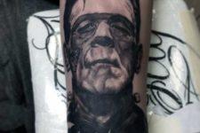 Frankenstein movie inspired tattoo