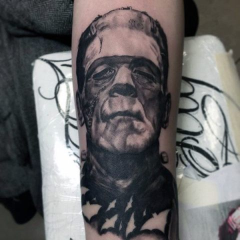 Frankenstein movie inspired tattoo