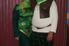 Good looking Shrek and Fiona costumes